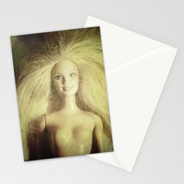 The old doll now is the new doll of a little girl Stationery Cards