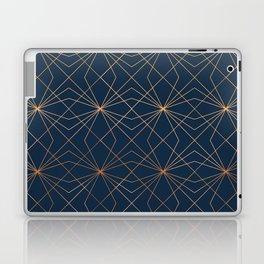 Navy & Copper Geo Lines Laptop & iPad Skin
