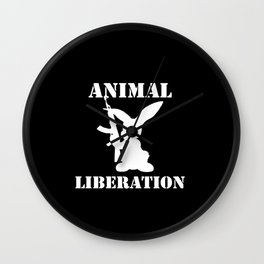 Animal Liberation - Army Bunny 2 Wall Clock