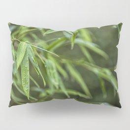 Lush Green Tropical Bamboo Leaf Pillow Sham