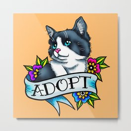 Adopt A Cat Metal Print