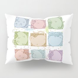 Blobby Cats Pillow Sham