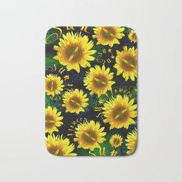 Composition of Sunflowers V Beach Towels Bath Mat