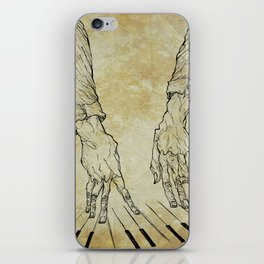 Hand of the pianist iPhone Skin