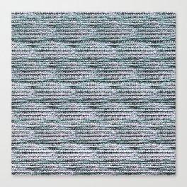 Knitting-like crochet texture Canvas Print