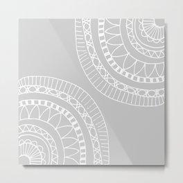 Bohemian Mandala Sketch Metal Print