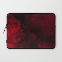 Modern Dark Red Textured Abstract Laptop Sleeve