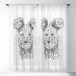 Pumi (Black and White) Sheer Curtain