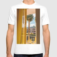Palm Springs Dreams White MEDIUM Mens Fitted Tee