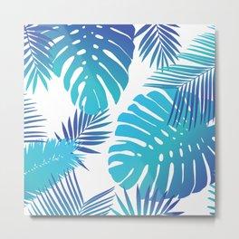 Bright Tropical Leaves Metal Print