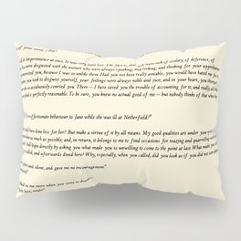 Pride and Prejudice Jane Austen antique white Pillow Sham