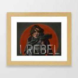 I rebel. Framed Art Print