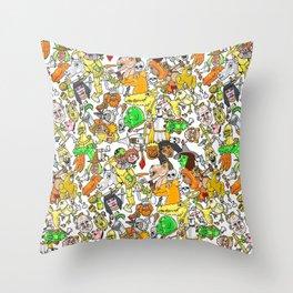 Medieval Roundup Throw Pillow