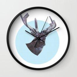 Deer in headlights Wall Clock