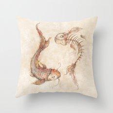 Yin Yang Fish Throw Pillow