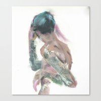 tattoos Canvas Prints featuring TATTOOS by Night