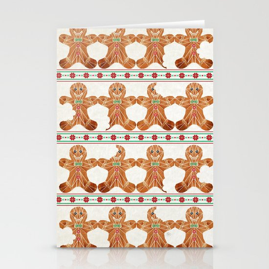gingerbread man Stationery Cards