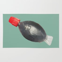 Fish bottle sushi soysauce polygon art Rug