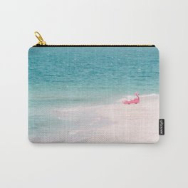Pink Flamingo Beach Carry-All Pouch