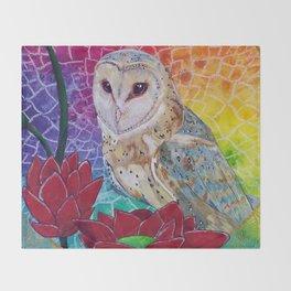 Lakshmi's Vahana ( Bird Whisperer Project Owl ) Throw Blanket