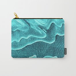 Underwater Topographic Trash Texture Carry-All Pouch