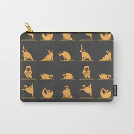 Pug Yoga // Black Carry-All Pouch