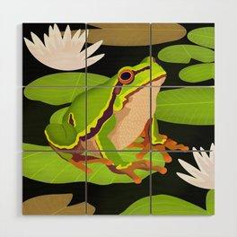 Lilypads Bullfrog Wood Wall Art