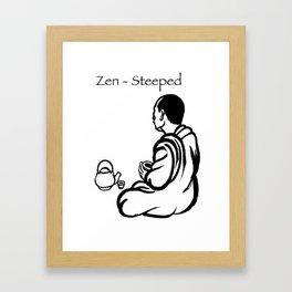 Zen-Steeped Framed Art Print