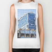 buildings Biker Tanks featuring Twisted Buildings by davehare