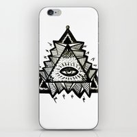 third eye iPhone & iPod Skins featuring Third Eye by Eco Juliet