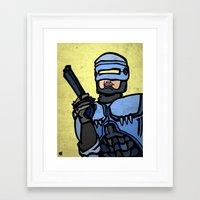 robocop Framed Art Prints featuring RoboCop by Rat McDirtmouth