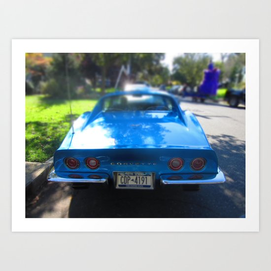 Corvette Blue Art Print