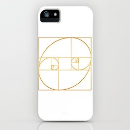 Golden Oval iPhone Case