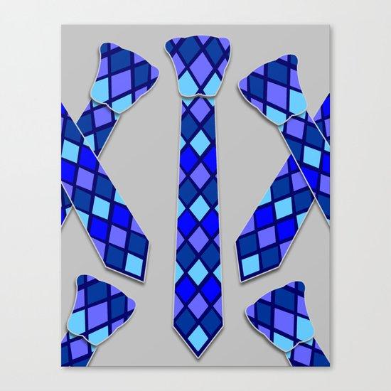Blue Tie Canvas Print