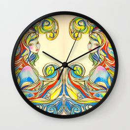 By Your Side  #society6 #decor #buyart Wall Clock