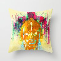 metropolis Throw Pillows featuring METROPOLIS by DIVIDUS