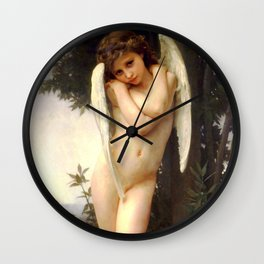 "William-Adolphe Bouguereau ""Cupidon"" Wall Clock"