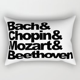 Bach and Chopin and Mozart and Beethoven Rectangular Pillow
