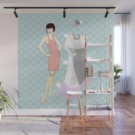 Flapper paperdoll - Evening gown Wall Mural