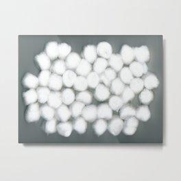 Cotton Balls Minimal Soft Fluffy Art Metal Print