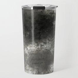 Black grey batic look Travel Mug