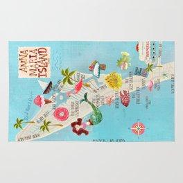 Anna Maria Island Map Rug
