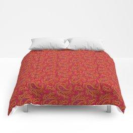 Ramona Paisley - Hot Coral Comforters