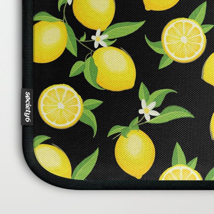 You're the Zest - Lemons on Black Laptop Sleeve