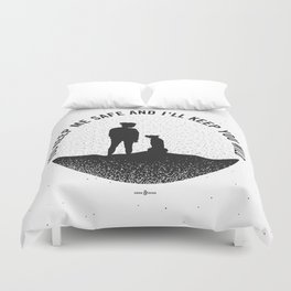 I'll Keep you Wild -black and white Duvet Cover