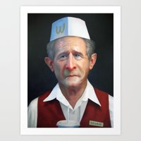 fries Art Prints featuring Freedom Fries by Jaime Margary