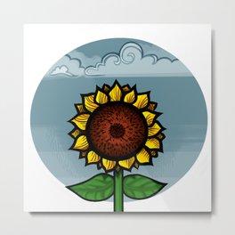 kitschy sunflower Metal Print