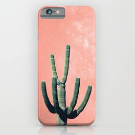 Pink Cactus Boho Mexican iPhone Case
