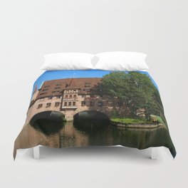 Old Architecture  Nuremberg Duvet Cover