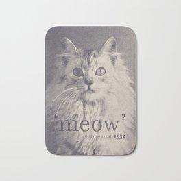 Famous Quotes #2 (anonymous cat, 1952) Bath Mat